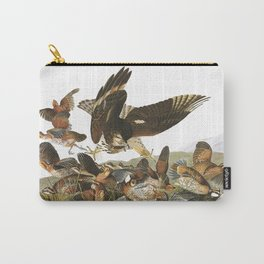 Virginian partridge, Birds of America, Audubon Plate 76 Carry-All Pouch