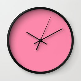 From The Crayon Box – Inspired by Tickle Me Pink - Bright Pink Solid Color Wall Clock