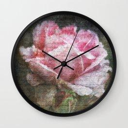Vintage Roses - English Rose Wall Clock