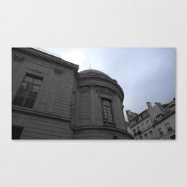 Paris architecture black and white with color Canvas Print