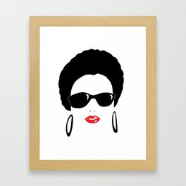 Afro chic in sunshades Framed Art Print