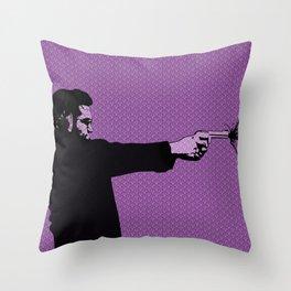 Kittappa Series - Pink Throw Pillow