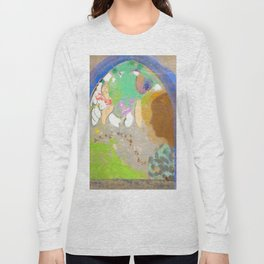 "Odilon Redon ""Profile of a Woman in the Window"" Long Sleeve T-shirt"