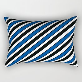 TEAM COLORS 1…Black, navy and white team  colors Rectangular Pillow