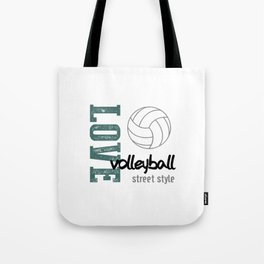 Love Volleyball Street Style Tote Bag