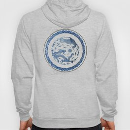 Damask vintage Monaco blue white girly ginger jar floral antique chinese dragon chinoiserie china Hoody