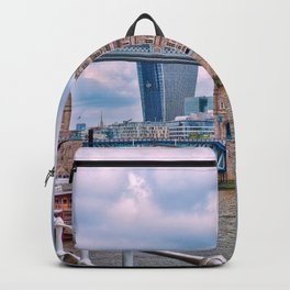 London Tower Bridge Blue Backpack