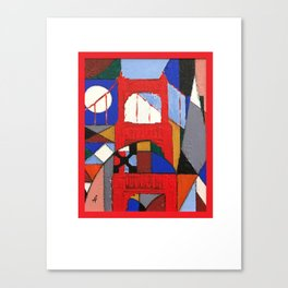 City Vibe (Red) Canvas Print