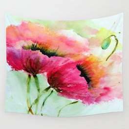 Beautiful Poppy Wall Tapestry