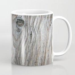 Real Aged Silver Wood Coffee Mug