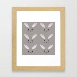 Pattern- Gray Bunny Framed Art Print