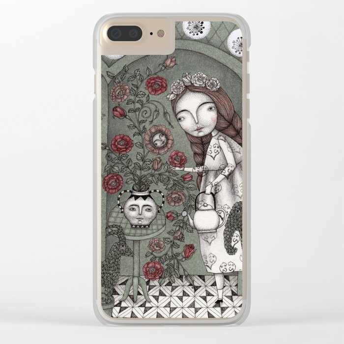 When it Snows Outside (My Secret Garden) Clear iPhone Case