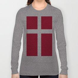 Flag of Denmark Long Sleeve T-shirt