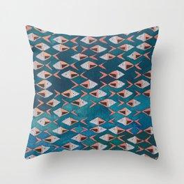 School of Fish Pattern Throw Pillow