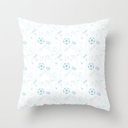 Blockhead Endpapers Throw Pillow