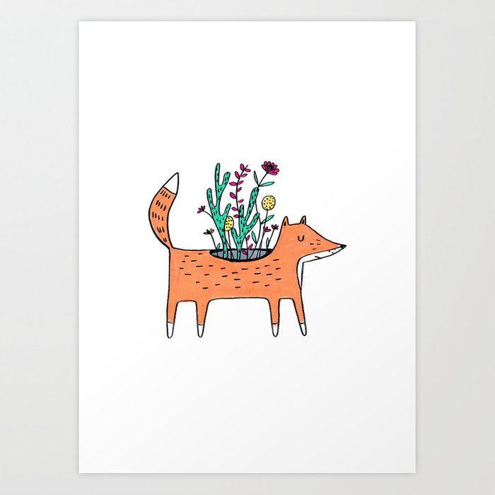 Flora and Fauna Art Print