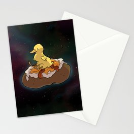 Space Duck Stationery Cards