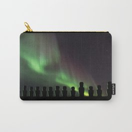 Northern Lights Easter Island Moai Carry-All Pouch