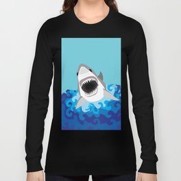 Great White Shark Attack Long Sleeve T-shirt