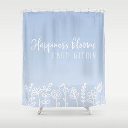 Blooms in Bluebell Shower Curtain