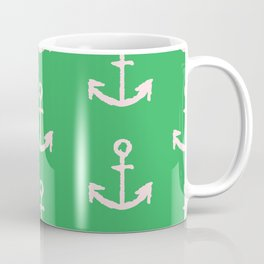 Anchors - Green Coffee Mug