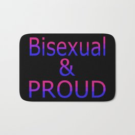 Bisexual and Proud (black bg) Bath Mat
