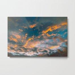 The Sky On Fire Metal Print