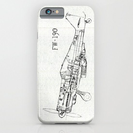 FW - 190 ( B & W) iPhone & iPod Case