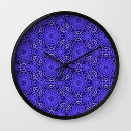 Purple Passion Pattern Wall Clock