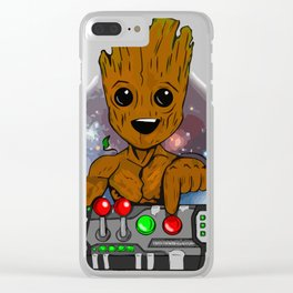 Dont Push.Groot Clear iPhone Case