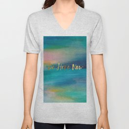 Be Here Now, Ocean Sunrise 4 Unisex V-Neck