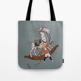 Whipping the Angry Toy Horse Tote Bag
