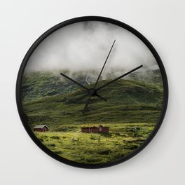 Norwegian mountain Wall Clock