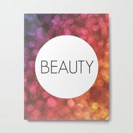 One Word - Beauty Metal Print
