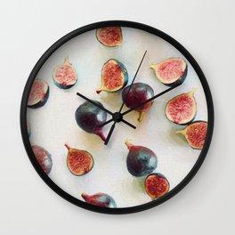 Fresh Figs on Linen Wall Clock