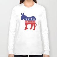 north carolina Long Sleeve T-shirts featuring North Carolina Democrat Donkey by Democrat