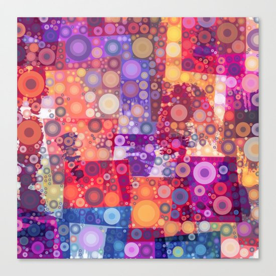 Harlequin Bubbles Canvas Print