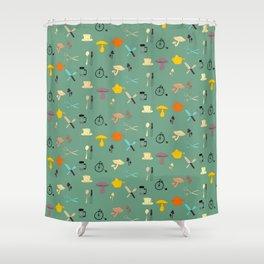Kitschy Kitchen Shower Curtain