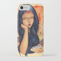 pocahontas iPhone & iPod Cases featuring Pocahontas by Bárbara  Kramer
