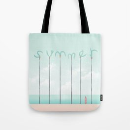 Palm Summer Tote Bag