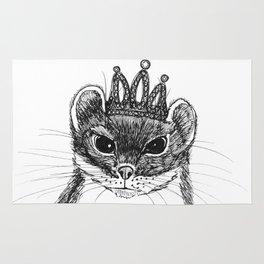 flapper weasel wearing a glittering tiara Rug