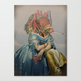 Another Portrait Disaster · the queen of flesh Canvas Print