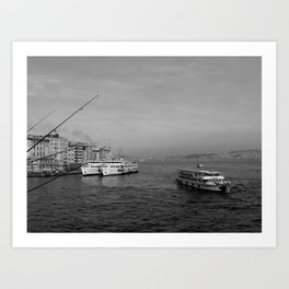 Bosphorus view from Galata Bridge Art Print