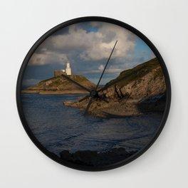 Mumbles lighthouse Swansea Bay Wall Clock