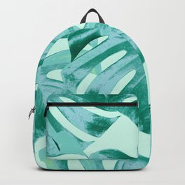 Tropical Monstera Leaves Dream #4 #tropical #decor #art #society6 Backpack