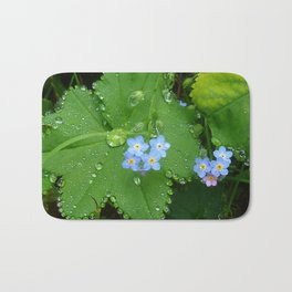 Forget me not jewel drops Bath Mat