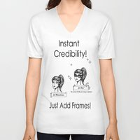 frames V-neck T-shirts featuring Just add frames! by Violetgrayveil