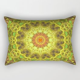 Dimensional Transition Mandala Rectangular Pillow