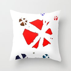 Spectral Balls Throw Pillow