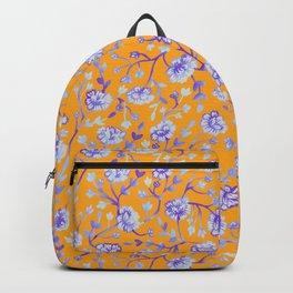 Watercolor Peonies - Sapphire Marigold Backpack